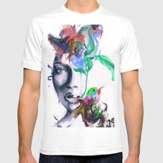 Generative Approach White MEDIUM Mens Fitted Tee