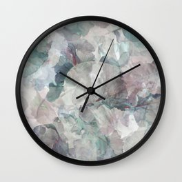 Teal and Purple Foliage Wall Clock