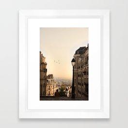 montmartre mornings Framed Art Print