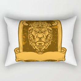 Emblem viking head illustration Rectangular Pillow