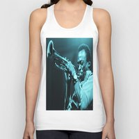 """miles davis Tank Tops featuring Miles Presents """"The In Blue"""" by Revolutionthrulife"""