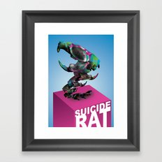 Suicide rat Framed Art Print