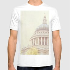St Paul's Cathedral  Mens Fitted Tee White MEDIUM