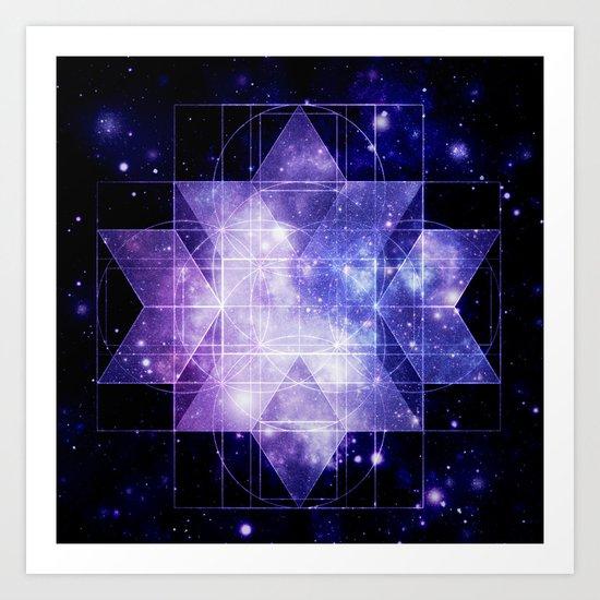 galaxy sacred Geometry Art Print