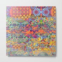 Modern Fractal Abstract 28: Broken Symmetries Metal Print