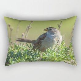 Sparrow on Lupine Rectangular Pillow
