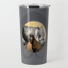 Plow Horse and Foal Travel Mug