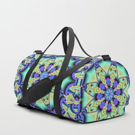 A touch of Spring, fantasy flower pattern design Duffle Bag