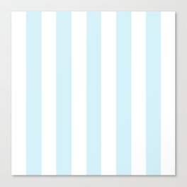 Water heavenly - solid color - white vertical lines pattern Canvas Print