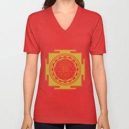 Sri Yantra Mandala Unisex V-Neck
