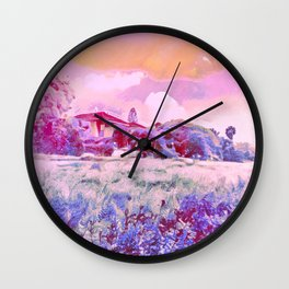 In A Field Of Roses She Is A Wild Flower Wall Clock
