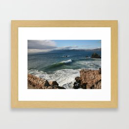 Catch A Wave In San Francisco  Framed Art Print