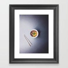 Ramen Noodles Framed Art Print