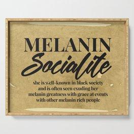 MELANIN SOCIALITE Serving Tray