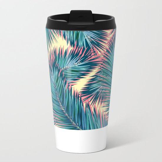 Palm Trees Metal Travel Mug
