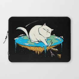 Flat Earth Cat Laptop Sleeve
