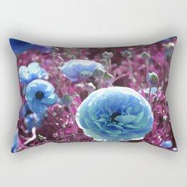 Blue Blooms Rectangular Pillow