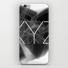 Typographic treatment of letters XYZ. Dark Math XYZ. iPhone Skin