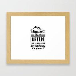 Inspirational and motivational designs Framed Art Print