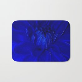 Royal Blue Fractal dahlia Bath Mat