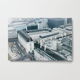 View of London Streets from the London Eye Metal Print