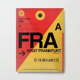 FRA Frankfurt Luggage Tag 2 Metal Print