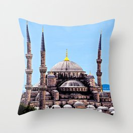 Blue Mosque Monument, Istanbul Turkey Throw Pillow