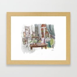 Will and Grace - Grace Adler Designs Studio Watercolor Painting Framed Art Print