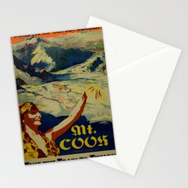 Nostalgic Mount Cook Stationery Cards