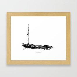 Kok Tobe TV tower Framed Art Print