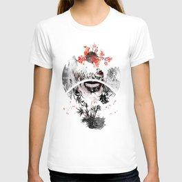 Sign Landscape Sakura dawn T-shirt