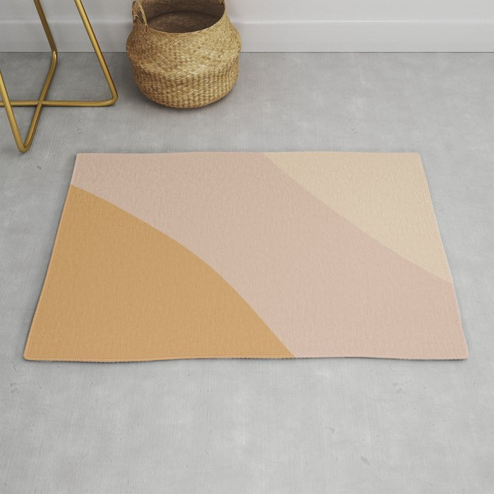 Warm Neutral Color Block Rug By