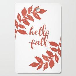 Hello Fall- Orange Wreath Cutting Board