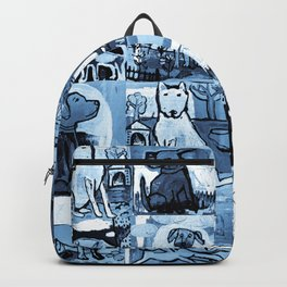 Dog Lover in Indigo Backpack