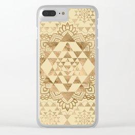 Sri Yantra  / Sri Chakra Pastel Gold Clear iPhone Case
