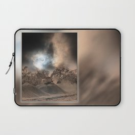 Heavy Duty Earthworks During An Eclipse Laptop Sleeve