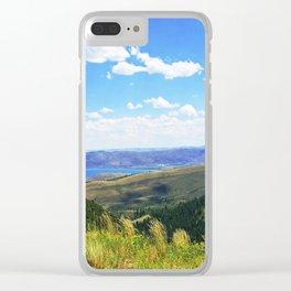 Bear Lake Blue Clear iPhone Case