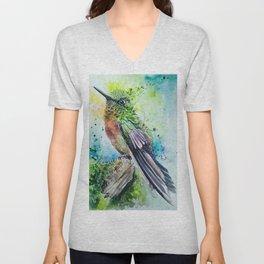 Green Little Bird Unisex V-Neck