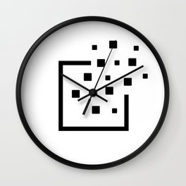 Pixels leaving the borders. Without Borders. Wall Clock