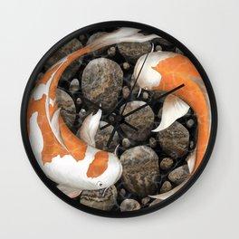 Koi Fish Pond Wall Clock