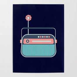 Cute Little Radio Poster