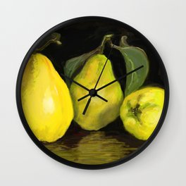 Quinces the fruit of love Wall Clock