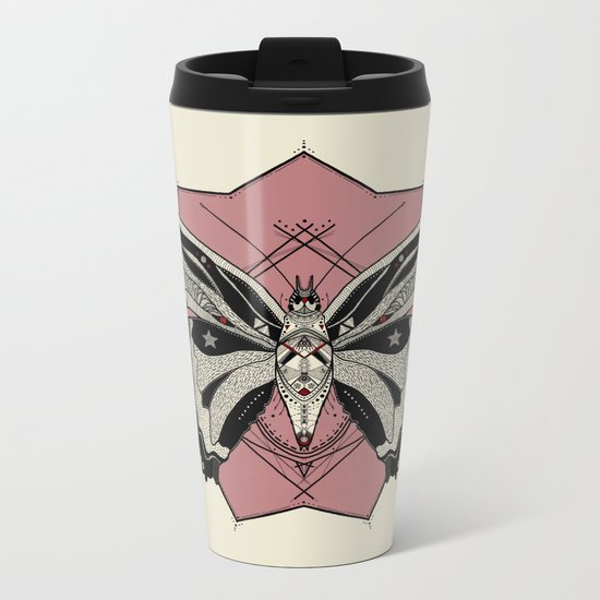 Borboleta Metal Travel Mug