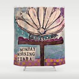 Monday Tiara Shower Curtain