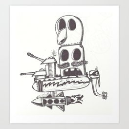 DangerBoat Art Print