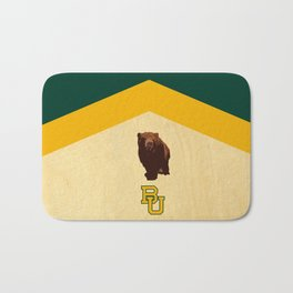 Baylor University - BU logo with bear Bath Mat