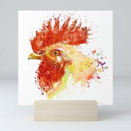 Rooster Head Mini Art Print