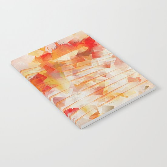 Abstract cubism orange and red Version 1 Notebook