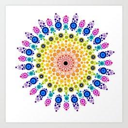 Rainbow Mandala 31218 Art Print