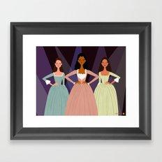 The Schuyler Sisters Framed Art Print